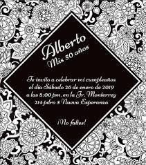 Invitacion Para Los 50 Anos Para Los Personaliza Recuerdos
