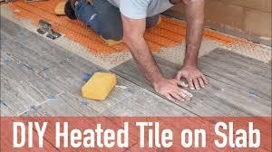 diy heated tile floor on slab you