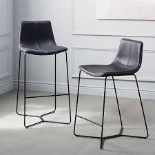 slope leather bar counter stools