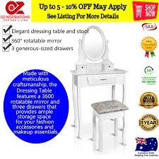 white dressing table set makeup vanity