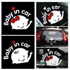 2020 Hot Selling Car Styling Cartoon Car Stickers Vinyl Decal Baby On Board Baby In Car Window Rear Windshield Cute Car Sticker From Gxg N 3 27 Dhgate Com