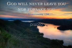 god will never leave you nor forsake you quotes sentences