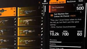 upgrade exotic weapon in the division 2