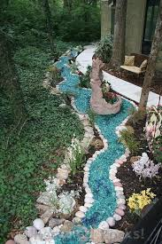 recycled glass landscape landscaping