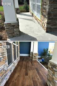 concrete faux wood before after