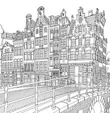 Amsterdam Kleurplaat Kleurplaten Tekening Architectuur Adult
