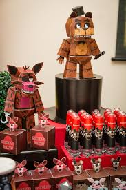 Fnaf Birthday Party Boxes And Animatronics Made By Design 5 Www