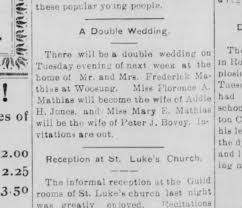 Florence Mathias marries Addie Jones and mary e marries Peter ...