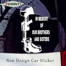 Car Styling Accessories In Memory Of Our Brothers And Sisters Marines Army Navy Car Sticker Removable Laptop Decal Art Design Car Styling Car Accessoriesarmy Car Decals Aliexpress
