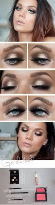 gold and black smokey eye tutorials