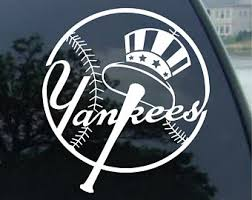 Yankees Decal Etsy