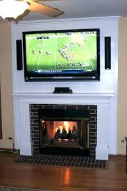 above fireplace propane fireplaces tv