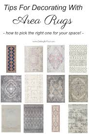 tips for decorating with area rugs