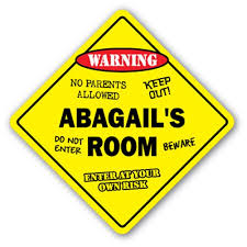 Abagail S Room Sign Kids Bedroom Decor Door Children S Name Boy Girl Gift Walmart Com Walmart Com