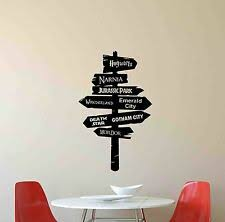 Harry Potter Diy Wall Decal Hogwarts Road Sign Vinyl Sticker Home Movie Decor For Sale Online