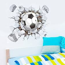 Amazon Com Vibola Diy 3d Soccer Ball Football Wall Sticker Decal Kids Bedroom Home Room Decor Sport Wall Decals Arts Crafts Sewing