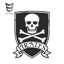 Earlfamily 13cm X 9cm Car Styling Pirates Sticker Skull Jolly Roger Car Bike Kids Cool Laptop Vinyl Decal Waterproof Car Sticker Car Stickers Aliexpress