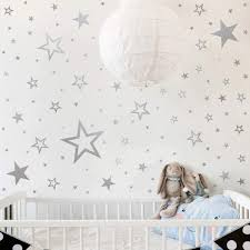 Amazon Com Mozamy Creative Star Wall Decals 146 Count Silver Star Wall Decal Bedroom Wall Decals Star Wall Stickers Removable Peel And Stick Wall Decals Vintage Silver Home Kitchen