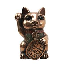 Japanese Lucky Cat Maneki Neko Figurine Fortune Beckoning Calico Kitty Charm Statue Decor Walmart Com Walmart Com