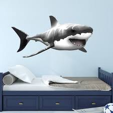 Jaws Shark Wall Decal Peel And Stick Ocean Wall Decal Etsy