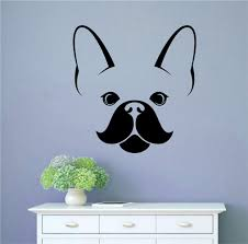 Winston Porter Frenchie French Bulldog Dog Head Vinyl Words Wall Decal Wayfair