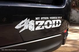 Zoids Bumper Sticker Berserk Fury Discontinued Etsy