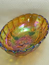 carnival glass fruit bowl indiana glass