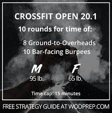 crossfit open 20 1 the workout you ve
