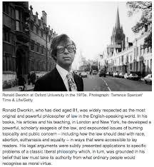 Founding member, Ronald Dworkin, dies age 81. | CDBU