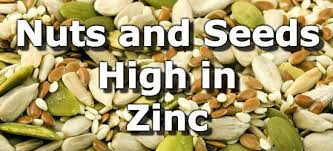 top 10 nuts and seeds highest in zinc