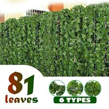 Privacy Hedge Fence Screen Artificial Ivy Leaf Panels Green Plant Decor Outdoor For Sale Ebay