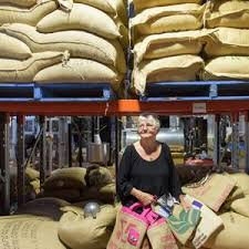 Myra James with her bags made from old coffee bags ...   Buy Photos Online    Northern Star