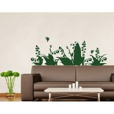 Lily Of The Valley Wall Decal Floral Wall Sticker Vinyl Wall Art Home Decor Wall Mural 3697 Sage 31in X 11in Walmart Com Walmart Com