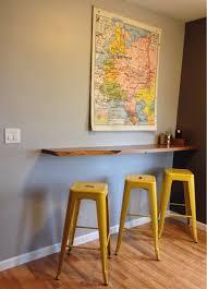 wall mounted breakfast bar