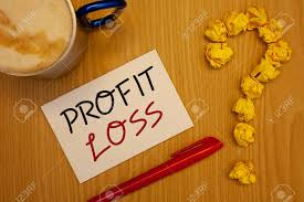 words writing texts profit loss business concept for financial