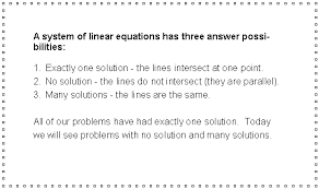 7 5 special types of linear systems