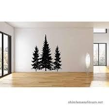 Pine Evergreen Trees Vinyl Wall Decal Sticker B019jdt47s