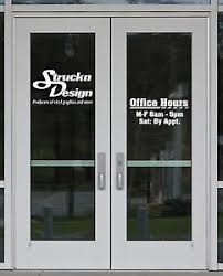 Business Retail Store Sign Office Hours Custom Vinyl Graphic Decal Window Letter Ebay