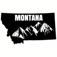 Montana Mountains State Shaped Sticker U S Custom Stickers