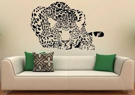 Leopard Wall Decal Vinyl Stickers Big Wld Cat Interior Home Etsy