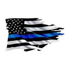 Thin Blue Line Tattered Flag Sticker 2 Pack Police Usa Vinyl Decal Car Truck Car Styling Accessories Wish