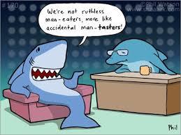 scuba humor shark ics by phil