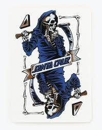 Santa Cruz Ace Playing Card Sticker Skateboard Stickers Vinyl Decal Die Cut Stickers Route One