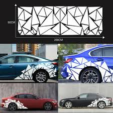 200x60cm White Freestanding Triangle Graphics Decal Sticker For Car Side Body Ebay