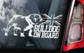 Bulldog Car Sticker British Bully English Dog Window Sign Bumper Decal Gift V01 Ebay