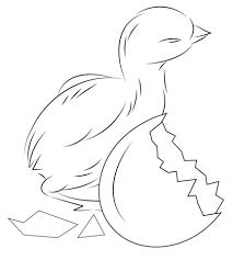 dibujo de pollito saliendo del cascarón