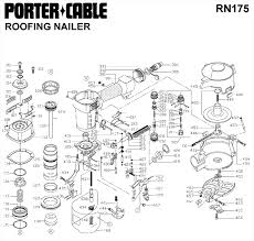 porter cable rn175 roofing nailer parts