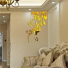 3d Mirror Flower Vine Wall Sticker Acrylic Decal Removable Floral Tree Discounted Rugs