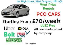 PCO CAR RENT / HIRE *TOYOTA PRIUS UBER FREENOW BOLT OLA [ WEST LONDON  OFFICE ] | in Uxbridge, London | Gumtree