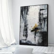 canvas art black white painting large